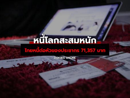 หนี้โลกสะสมหนัก...คนไทยหนี้เพิ่มขึ้นวินาทีละ 5,893 บาท หนี้ต่อหัวของประชากร 71,357 บาท
