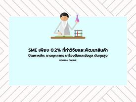 กรุงไทยชี้มี SME เพียง 0.2% ที่ทำวิจัยและพัฒนาสินค้า