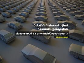 เมื่อไวรัสโคโรน่าสายพันธุ์ใหม่กระทบเศรษฐกิจคู่ค้าไทย...ส่งออกรถยนต์ 63 อาจหดตัวไม่น้อยกว่าร้อยละ 3
