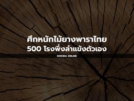 ศึกหนักไม้ยางพาราไทย...500 โรงพึ่งลำแข้งตัวเอง