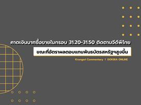 กรุงศรีคาดเงินบาทซื้อขายในกรอบ 31.20-31.50 ติดตามจีดีพีไทย..ขณะที่อัตราผลตอบแทนพันธบัตรสหรัฐฯสูงขึ้น