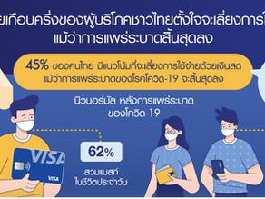 วีซ่า เผยเกือบครึ่งของผู้บริโภคชาวไทยตั้งใจจะเลี่ยงการใช้เงินสดแม้ว่าการแพร่ระบาดสิ้นสุดลง