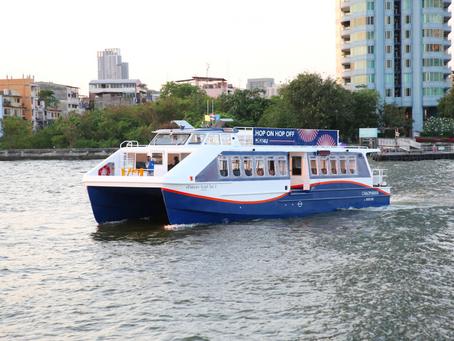 """""""เจ้าพระยา รีเวอร์ ไลน์"""" ส่งเรือท่องเที่ยวโฉมใหม่ """"Hop on Hop off Boat 4U"""" ร่องแม่น้ำเจ้าพระยา"""