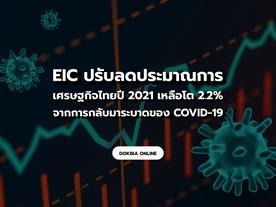 EIC ปรับลดประมาณการเศรษฐกิจไทยปี 2021 เหลือโต 2.2% จากผลกระทบการกลับมาระบาดของ COVID-19