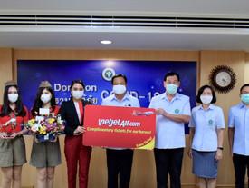 ไทยเวียตเจ็ทยันไม่หยุดบิน พร้อมขยายเวลามอบตั๋วเครื่องบินฟรีแก่บุคลากรทางการแพทย์