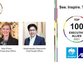 2 ผู้บริหาร กรุงไทย-แอกซ่า ประกันชีวิต ได้รับคัดเลือกให้เป็น Top 100 Executive Allies 2021 จาก LGBT