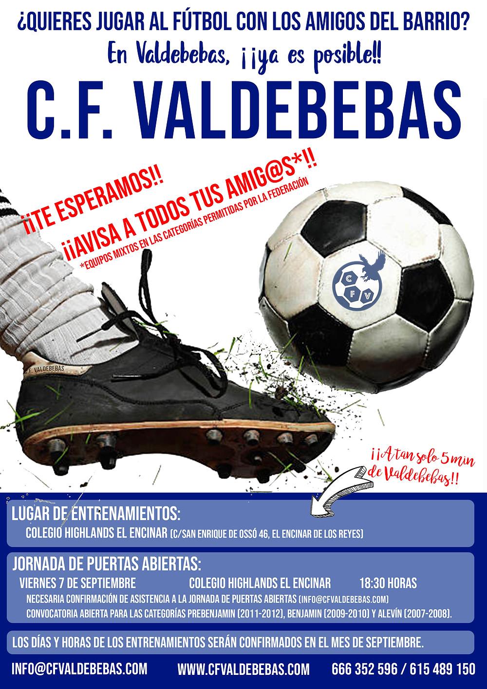 Cartel promocional CF Valdebebas