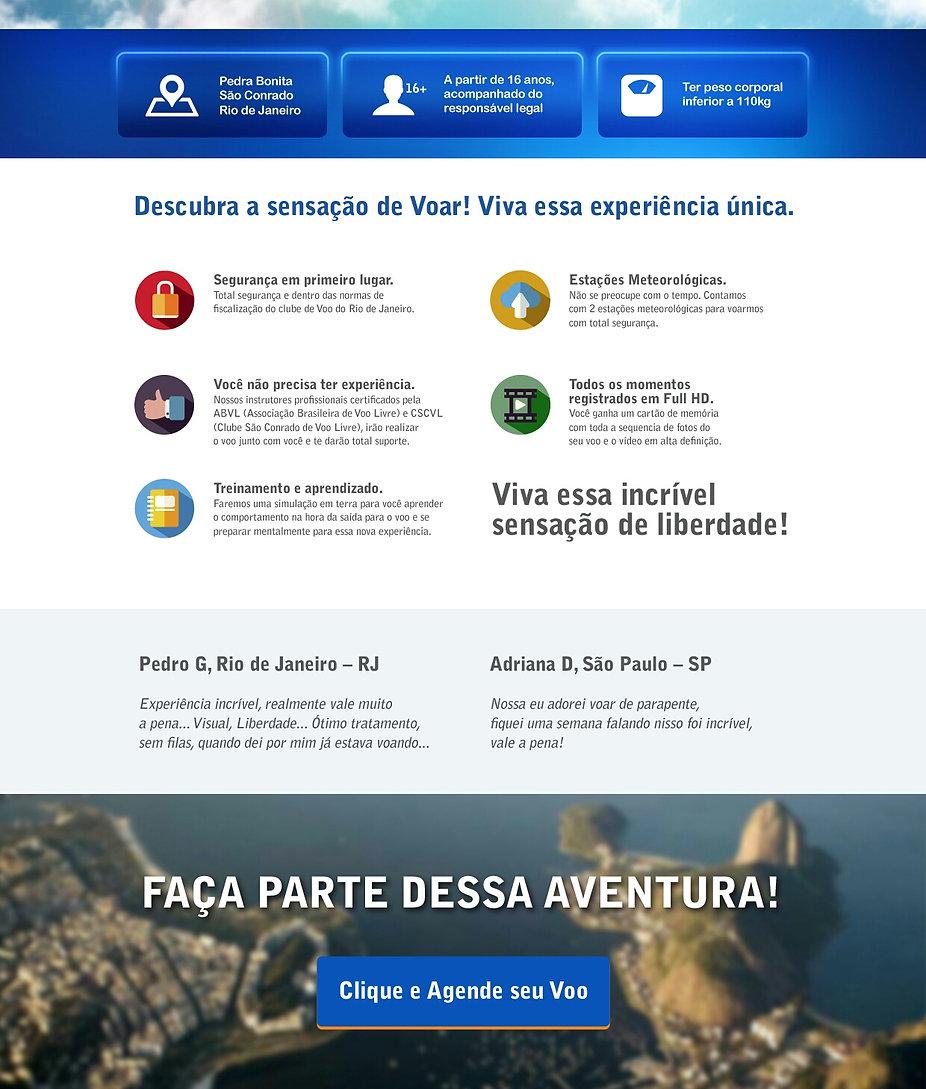 Informações para Voar Duplo no Rio de Janeiro.