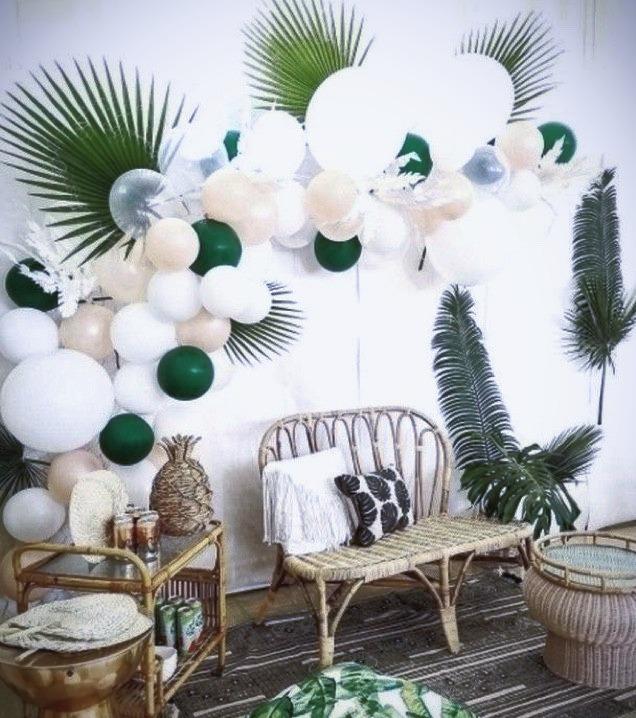 Guirnalda de globos para pared