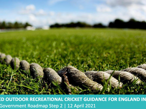 Return to Cricket Advice as at April 12th