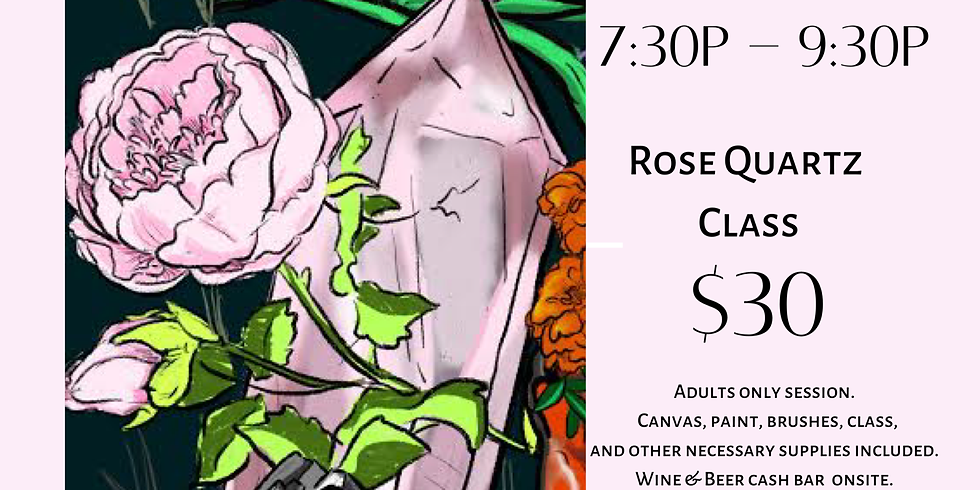Rock the Brush: A Crystal Inspired Paint & Sip Class