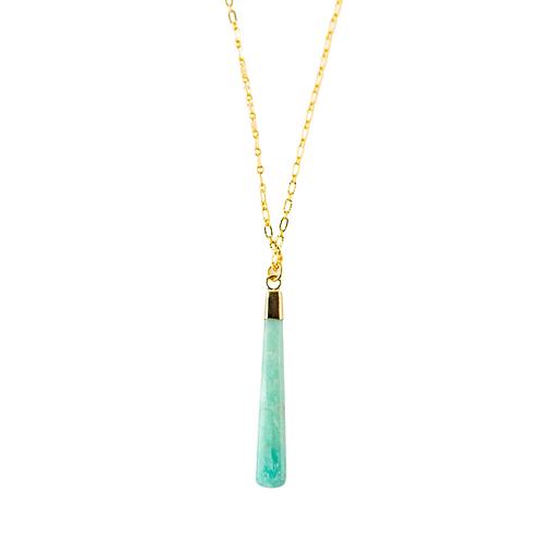 Gemstone Pendant Necklace-Amazonite