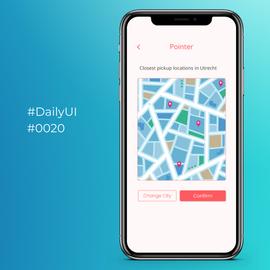 #DailyUI #0020 Location Tracker