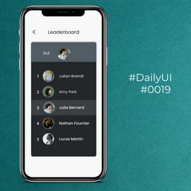 #DailyUI #0019 Leaderboard