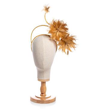 Golden Feathered Headpiece
