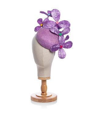 Lilac Raffia Headpiece