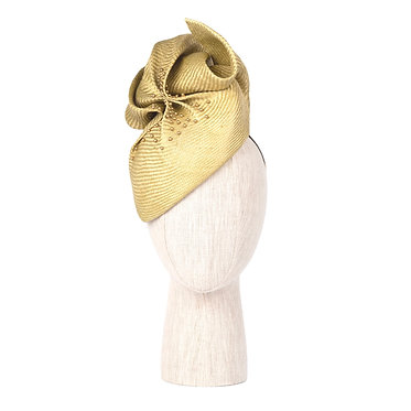 Chartreuse Straw Headpiece