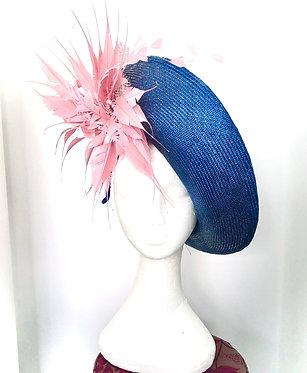 Blue Parisisal Straw Hat