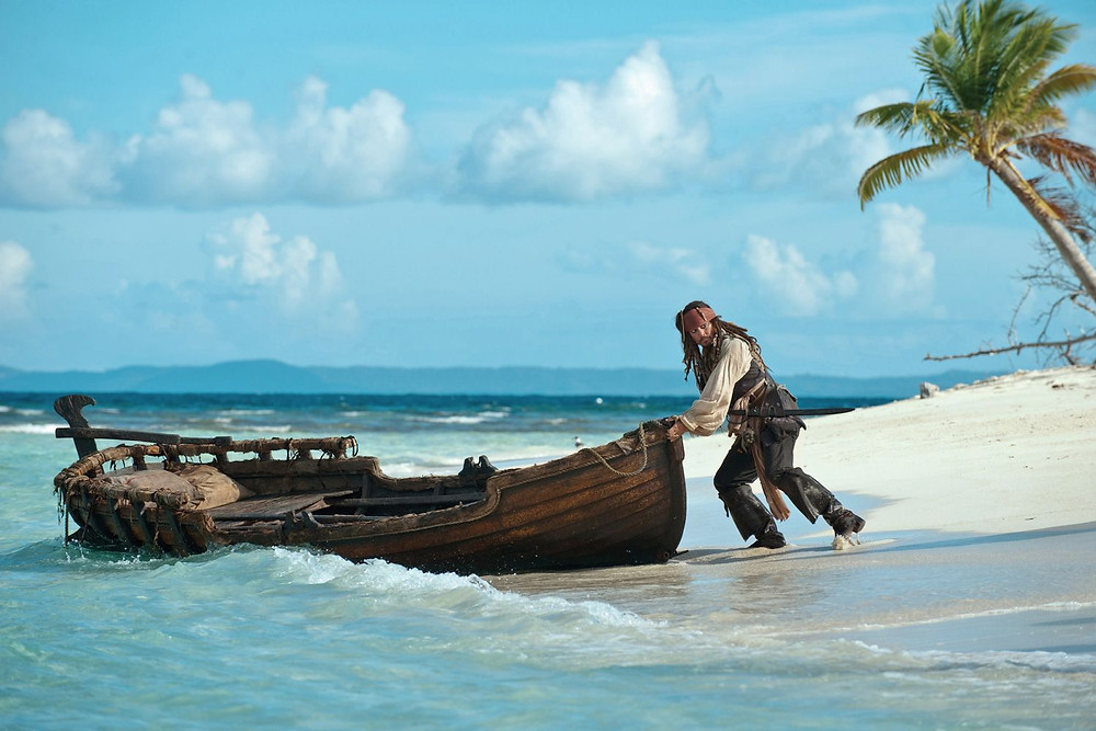 A scene from the Pirates of the Caribbean franchise showing the idyllic Whitsundays