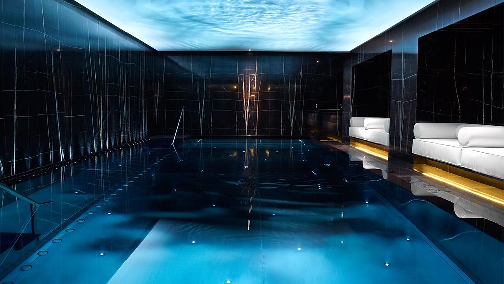 The ESPA Life Spa at the Corinthia London hotel contains an impressive hydrotherapy pool