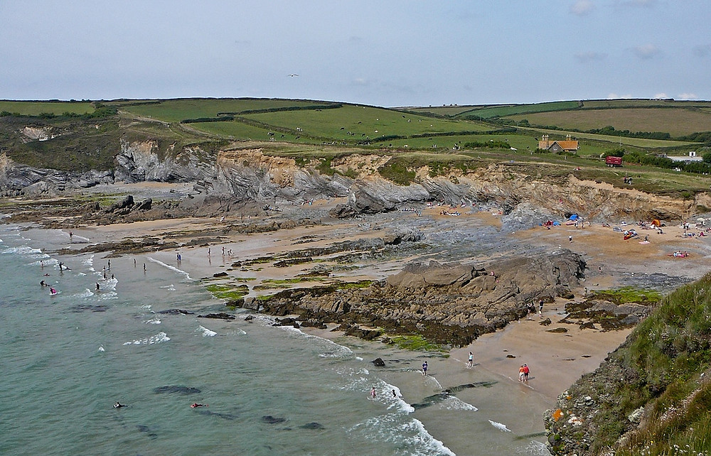 Cornwall's Dollar Cove where silver coins from a wrecked Spanish galleon still wash ashore