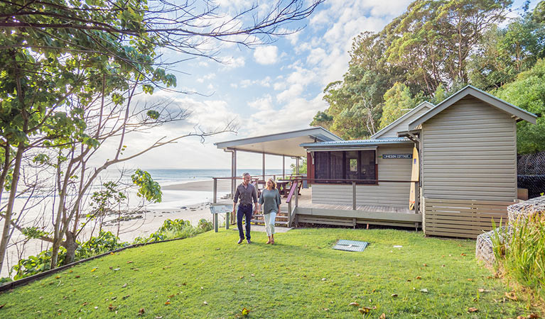 Beachside: Imeson Cottage is as close to the sand as you can get in Byron Bay
