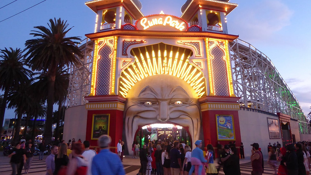 The St Kilda icon, Luna Park, is filled with rides and attractions