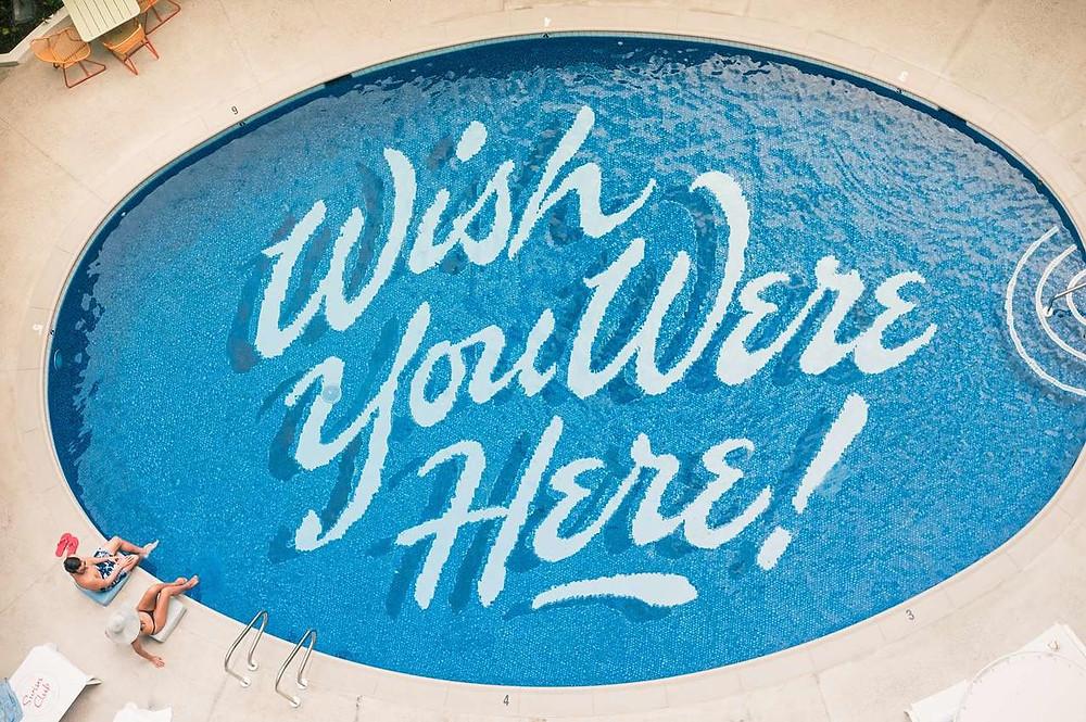 The statement pool at Surfjack Hotel & Swim Club, Honolulu, Hawaii