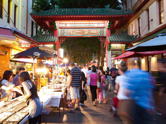 Sydney's Chinatown is mere steps away from the Capsule Hotel