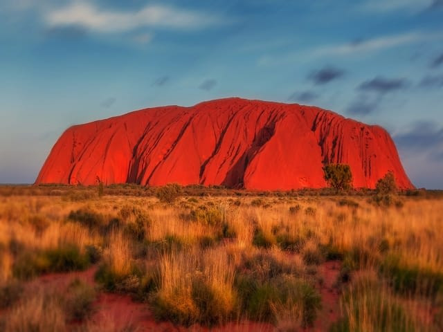 Rising out of the red dessert, the NT's Uluru was created some 600 million years ago