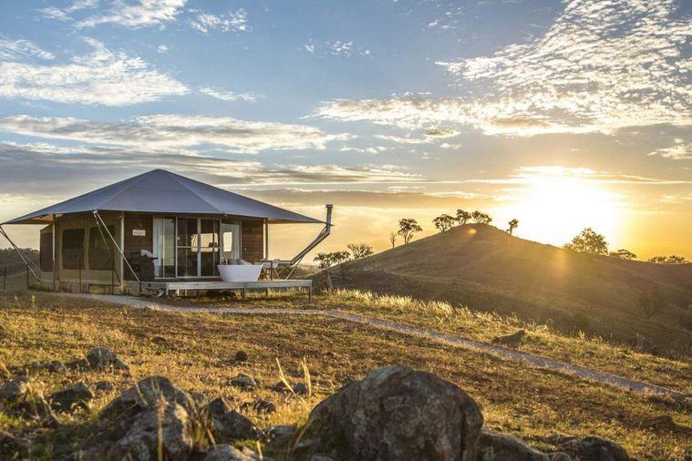Glamping accommodation, Sierra Escape, in Mudgee, NSW, Australia