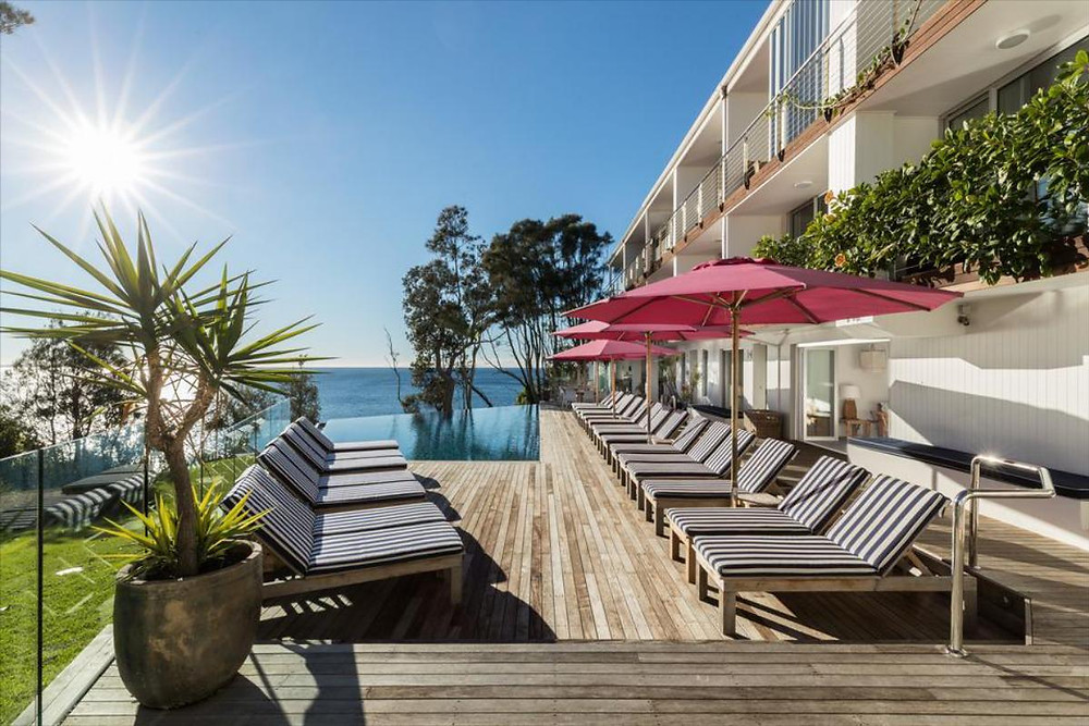 Bannisters by the Sea in Mollymook, NSW, is a 60s motel turned luxury boutique hotel