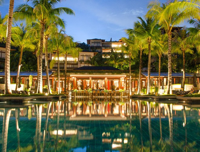 The huge infinity pool at Phuket's Andara Resort Villas