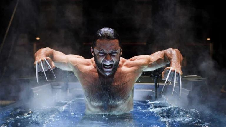 Hugh Jackman in a scene from X-Men Origins: Wolverine shot at Sydney's Cockatoo Island