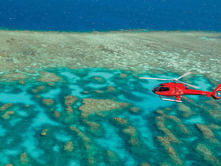 VIDEO: Australia's Great Barrier Reef by Helicopter