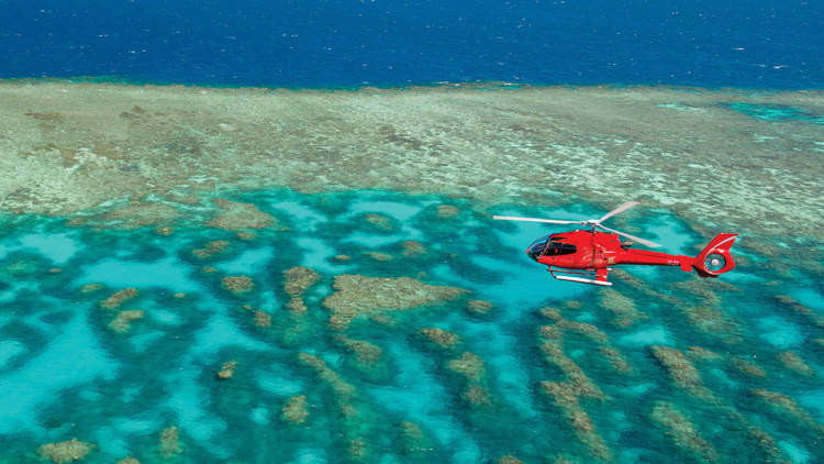 Natural World Wonder: Australia's Great Barrier Reef is best seen from above