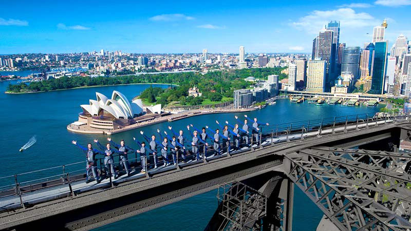 Climbing the Sydney Harbour Bridge offers one of the best views of the city
