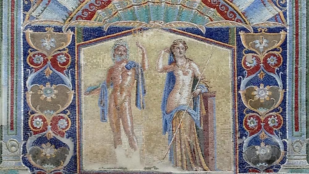 One of Herculaneum's best-preserved mosaics, Casa di Nettuno ed Anfitrite