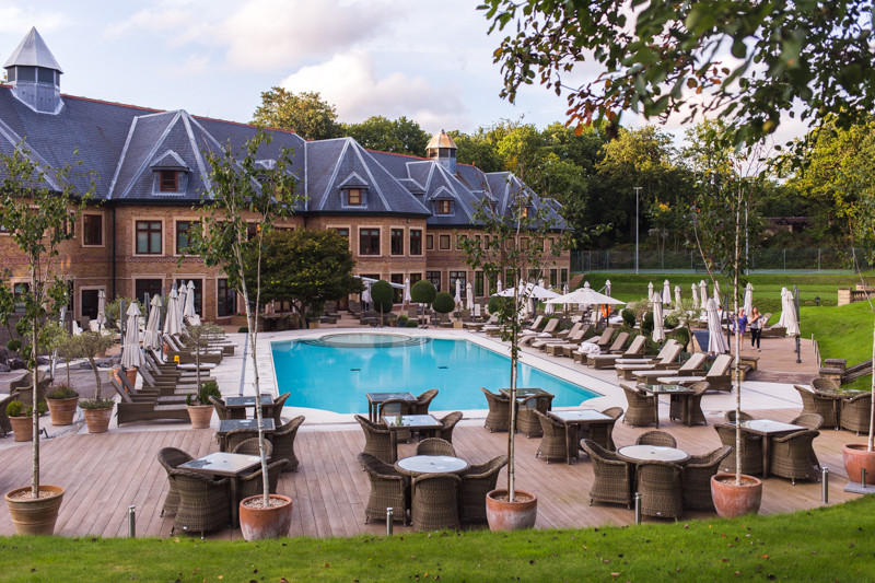 Pennyhill Park Hotel in Surrey has a sprawling spa complex
