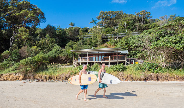 Imeson Cottage is as close to the sand as you can get in Byron Bay