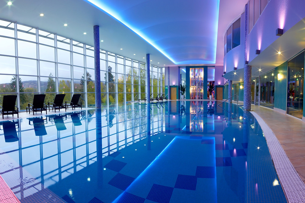 The main 25-metre pool in Stobo Castle's award-winning spa
