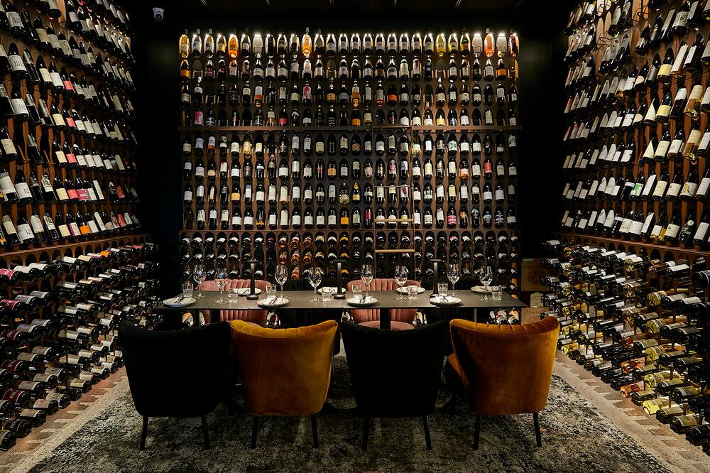 Magnificent wine collection at Vine Divini