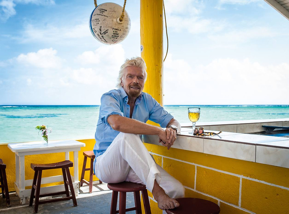 Adventure travel and staying active is a must for Richard Branson when on holiday