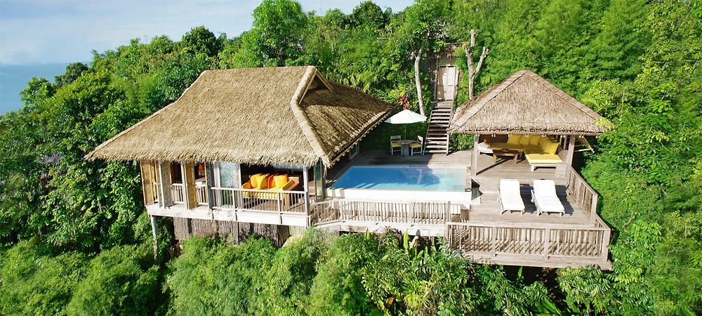 The plush eco-friendly villas at Phuket's luxurious Six Senses Yao Noi resort