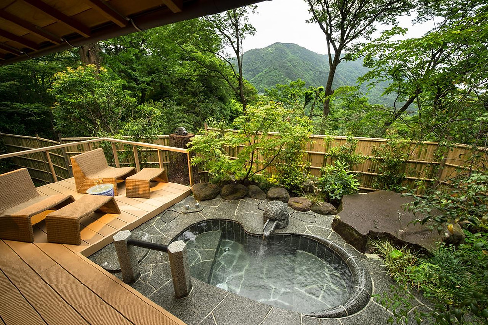 At Japanese ryokan, Gora Kadan, outdoor bathrooms come with one hell of a view