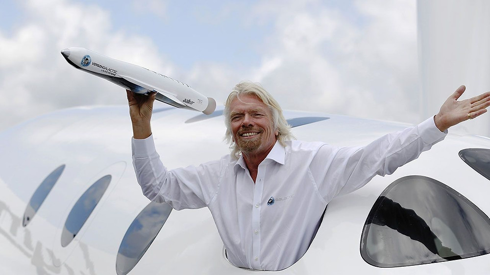 Commercial space travel - with Virgin Galactic - is Richard's next bucket list trip