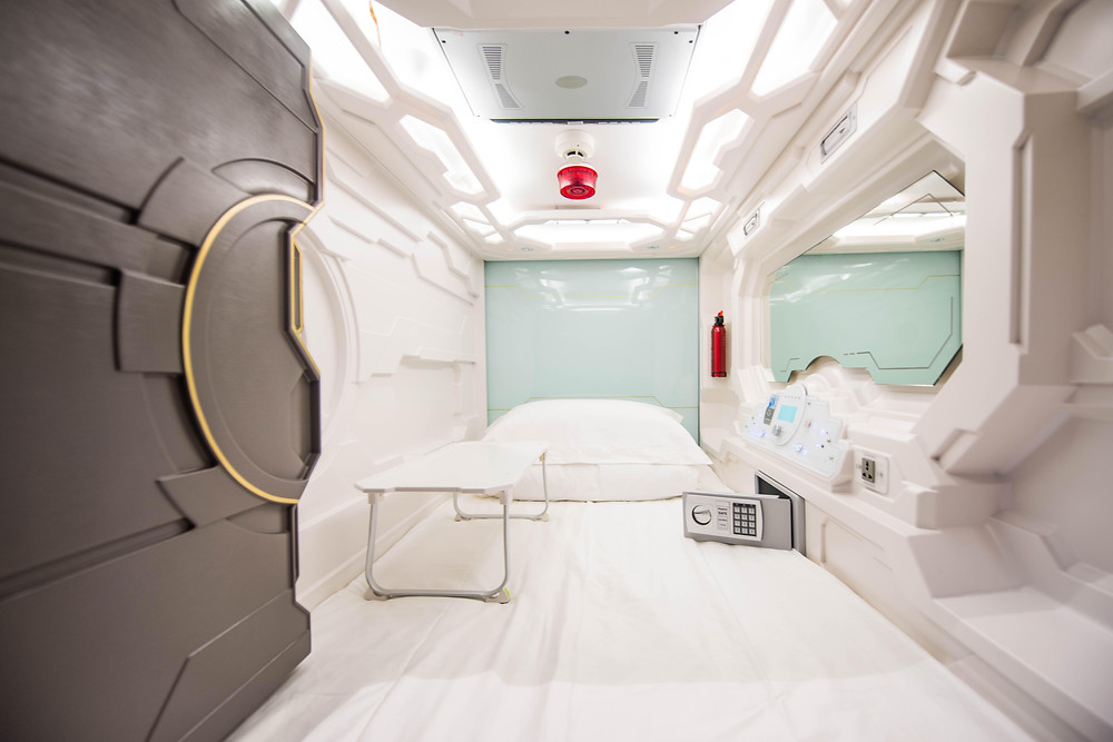 Space age - the futuristic interior of a capsule pod in Sydney's Capsule Hotel