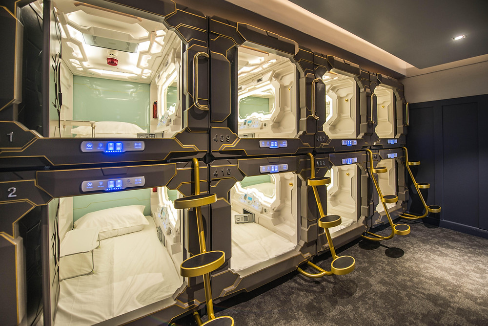 A night at the Capsule Hotel means you'll be in close proximity to your neighbours