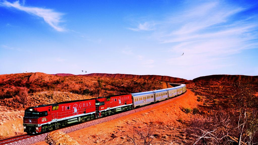 The Australian equivalent of the Orient Express, The Ghan is a train lovers dream