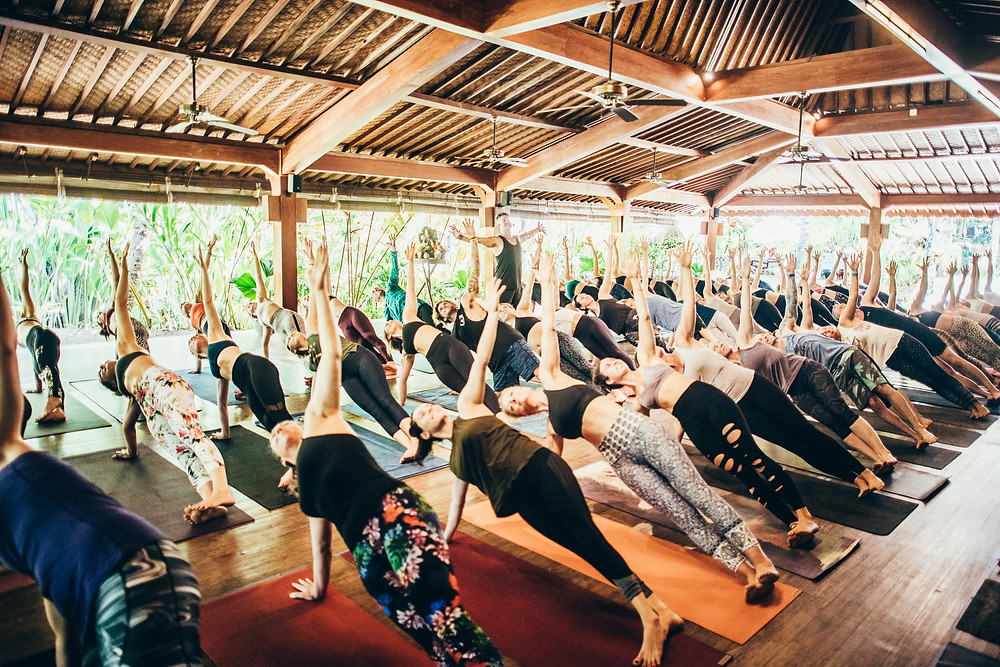 Reach for the sky: the open-air yoga shala where most of the retreat takes place